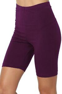 TheMogan S~3X Mid Thigh Stretch Cotton High Waist Active Bermuda Short Leggings