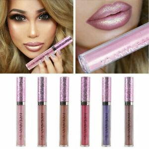 Matte to Glitter Metallic Liquid Lipstick Waterproof Matte Lip Gloss Makeup