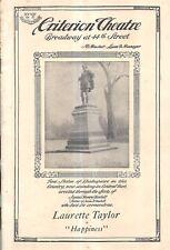 RARE 1885 THEATER PROGRAMS SET OF 9 NEW YORK HARTFORD COLUMBIA POLIS PARSONS