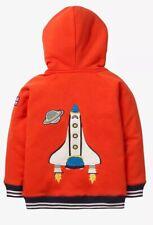 NWT Boys Mini Boden Lightweight Shaggy Colorblock Zip Hoodie Jacket Sz: 3-4Y 👍