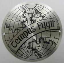 Decorative Metal Emblem Tempus Fugit Disc