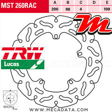 Disque de frein Arrière TRW Lucas MST 260 RAC Gilera VXR 180 Runner (M08) 2001