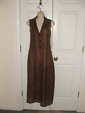 nwt brown/ black  reptile print sheer long coat/ dress size 6