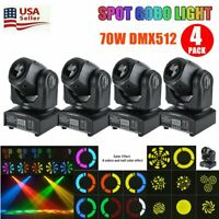 4PCS 70W RGBW Stage Light LED Spot Moving Head DMX Disco DJ Party GOBO Light USA