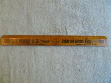Vintage Leather Working Tools C S Osborne 15 Inch Ruler Newark Made