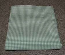 Pottery Barn Kids Green Gingham Cotton 44 x 84 Curtain Panel