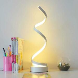 Modern LED Bedside Table Lamps Creative Design Curved Dimmable 10 W-24 W