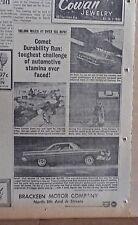 1963 newspaper ad for Mercury - Comet Durability Run at Daytona Florida