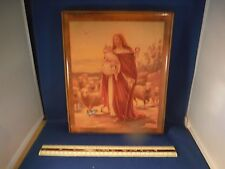 "Vintage Jesus As A Shepherd ""What A Friend We Have In Jesus"" Picture Music Box"