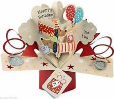 3d Second Nature 30th Birthday Keepsake Pop up Cards Sausage Dog