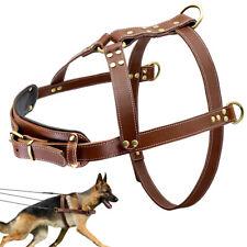 Heavy Duty Large Dog Leather Training Harness Extra Big Dog Pulling Harness Vest