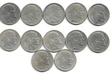 Belgique - Lot de 12 x 50 francs - Prince Charles Type Mercure - Argent - (E19)