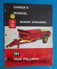 VTG New Holland Manure Spreader # 210 & 325 Owner's Manual 1965 pages 12