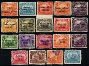 Nicaragua air post official stamps 1929 1932 1933 Overprinted