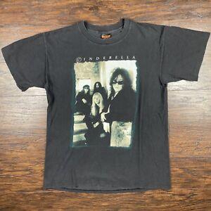 Vintage 1995 Cinderella Tour Shirt Size LARGE Brockum Band tee
