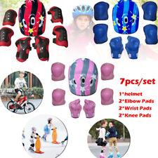 7PCS/set Children's Scooter Bike Helmet Knee Pads Elbow Pads and Wrist Support