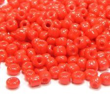 Rocailles Perlen 4mm 6/0 Opak Rot 450g Glasperlen Schmuckherstellung A141
