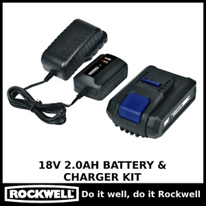 Rockwell LithiumTech 18V 2.0Ah Battery & Charger Kit