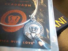 Alex and Ani CLADDAGH BRACELET LOVE FRIENDSHIP LOYALTY  NewW/Tag,Card & Box silv