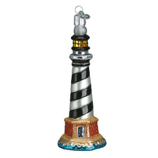 Old World Christmas Cape Hatteras Lighthouse (20017)N Glass Ornament w/Owc Box