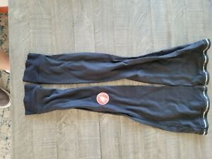 Castelli Leg Warmers Men Polyester XL Black cycling, Barely used