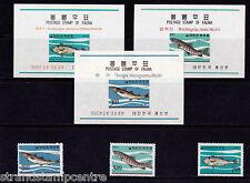 Korea - 1966 Fish - U/M - SG 637-9 + MS 640 (3)