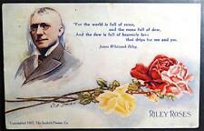 "Postcard Artist Signed Cob Shinn ""Riley Roses"" Poem 1907 Scofield-Pierson Co."