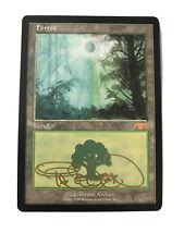 Guru Forest Promo Basic Land  - MTG Magic the Gathering  - Signed