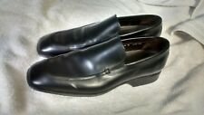 "DONALD J PLINER ""DIRK "" MEN'S BLACK LEATHER SLIP-ON LOAFERS SIZE 11 M MADE ITALY"
