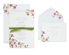 BRIDES Wedding Invitation Kit w Embossed Cherry Blossom New Open Box See Details
