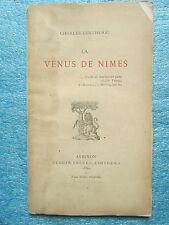 LENTHERIC : LA VENUS DE NÎMES. Avignon, 1880. Rare plaquette sur beau papier.