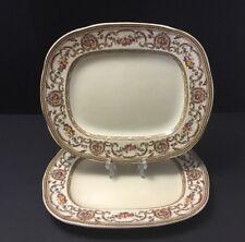Vintage Wedgwood TRIANON Medium Serving Platter~Plate~flowers~brown~pink~England