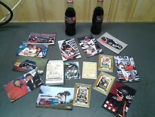 2 Dale Earnhardt Sr #3 Coca Cola Coke Bottles / postcard / gold card lot