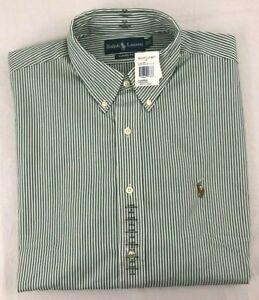 NEW Polo Ralph Lauren Sz. 17-34/35 Striped Long Sleeve Button Down Shirt!