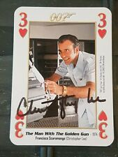 SIGNED Christopher LEE 007 Janes Bond The Man With The Golden Gun Card