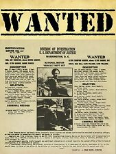 "Bonnie and Clyde 16"" x 12"" Photo Repro Wanted Poster"