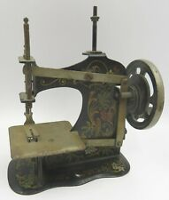 Antique C19th German Tin-Plate Miniature Sewing Machine No. 148145