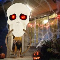 Sonnette Halloween fête Party Crâne Lumière Effrayant Prop Son Bar Porte T