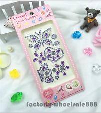 Self Adhesive Glitter Rhinestone purple Crystal Stickers Diamond Gem Decal HOT A