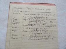 TARIF 1904 voyage  orient CONSTANTINOPLE PAQUEBOTS-POSTE MER NOIRE MEDITERRANEE