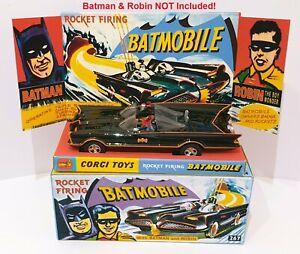 JADA 1:32 Batman Classic TV BATMOBILE Diecast Car in Repro CORGI 267 Box & Stand