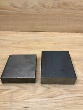 Lot Of 2 Steel Blocks Bar Stock Arts Crafts Blacksmith Jewelry Bko4