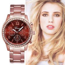 De Mujer Acero Inoxidable Cristales Reloj Sintético Cronógrafo De Cuarzo Clásico