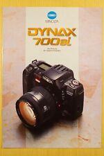 MINOLTA DYNAX 700si, Prospekt A4, 20 S., Kamera, Objektive und Zubehör, 1993