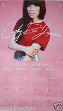 "CARLY RAE JEPSEN ""CALENDAR 2012-2013"" THAILAND PROMO POSTER - Pop, Dance, Folk"