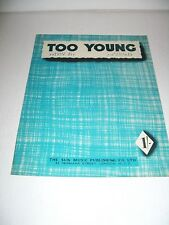 """Sheet Music & Words """"Too Young"""""""