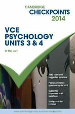 Cambridge Checkpoints VCE Psychology Units 3 and 4 2014 - Paperback  Jory, ma