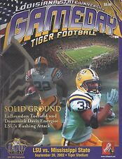 2002 LSU FOOTBALL PROGRAM - Toefield, Domanick Davis vs Mississippi State