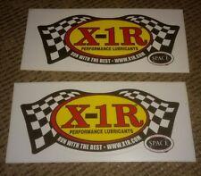 Lot of 2 X-1R Lubricants Sticker Decal Drag Race Car Hot Rat Rod Toolbox garage