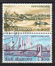 San Marino - 1973 Cities: New York Mi. 1025-26 VFU